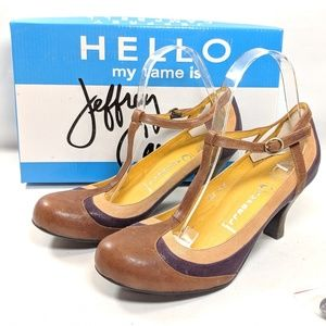"""Jeffrey Campbell """"Able"""" Pumps Leather Heels"""